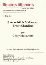 Une amitié de Mallarmé : <br/>Ernest Chatellain