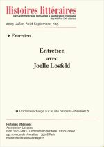 Entretien<br/>Joëlle Losfeld