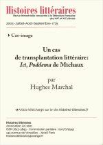 Un cas<br/> de transplantation littéraire :<br/> <em>Ici, Poddema</em> de Michaux