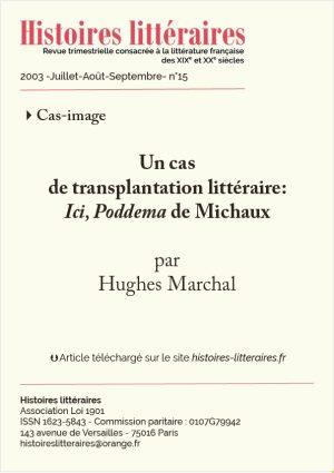 page de garde ici Poddema Henri Michaux
