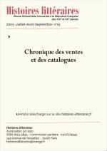 Chronique des ventes<br/>et des catalogues du n°15