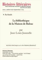 La bibliothèque<br/>de la Maison Balzac