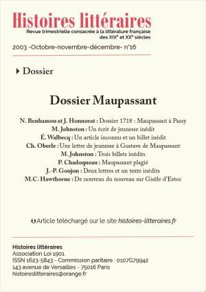 Page de garde du dossier Maupassant