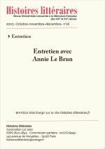 Entretien avec<br/>Annie Le Brun