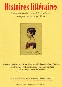 couverture-Histoires littéraires-77