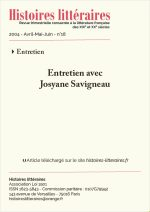 Entretien avec Josyane Savigneau