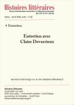 Entretien avec Claire Devarrieux