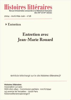 Page de garde entretien avec Jean-Marie Rouard