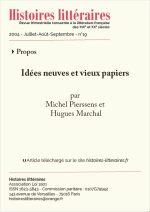 Idées neuves et vieux papiers