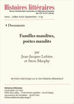 Familles maudites, poètes maudits