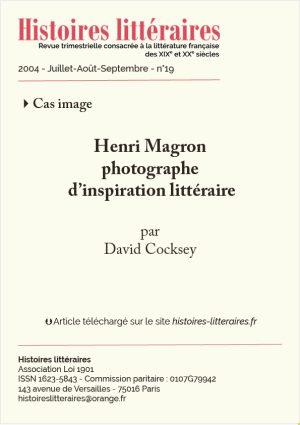 Page de garde Henri Magron