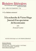À la recherche de Victor Hugo<br/>Journal d'un spectateur du bicentenaire
