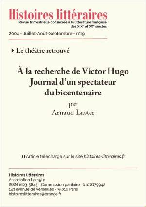 Page de garde à la recherche de Victor Hugo