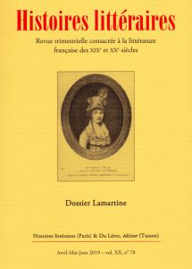 Histoires littéraires n°78 avril-mai-juin 2019