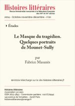 Le masque du tragédien.<br/>Quelques portraits de Mounet-Sully