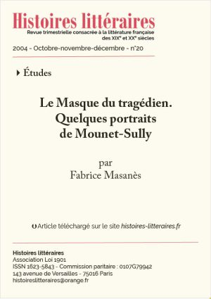 Page de titre Mounet-Sully