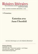 Entretien avec Anne Ubersfeld