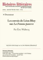 Les envois de Léon Bloy <br/> sur <em>La Femme pauvre</em>