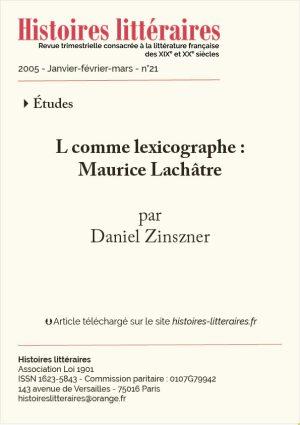page de garde Maurice Lachâtre