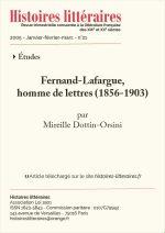 Fernand-Lafargue, <br/>homme de lettres (1856-1903)