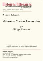 """Monsieur Maurice Curnonsky"""
