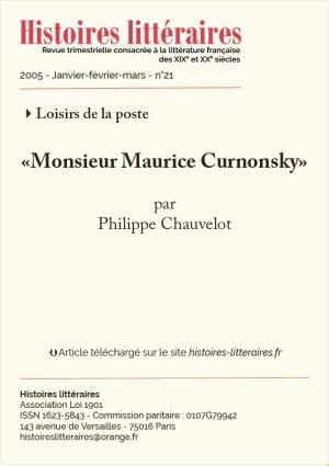 Page titre de Maurice Curnonsky