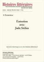 Entretien avec Jude Stéfan