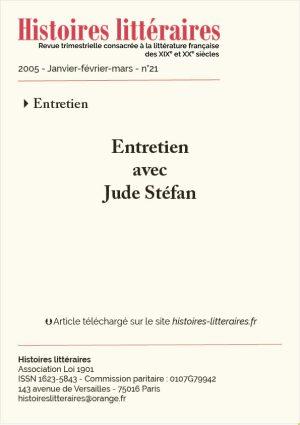 Page titre entretien avec Jude Stéfan