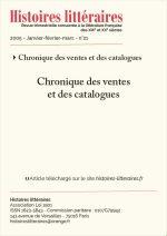 Chronique des ventes et des catalogues du n°21