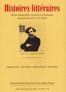 Couverture Histoires littéraires 79