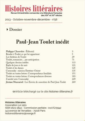 Page de titre Dossier Toulet