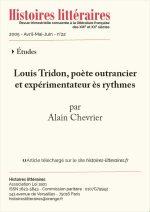 Louis Tridon, poète outrancier et expérimentateur ès rythmes