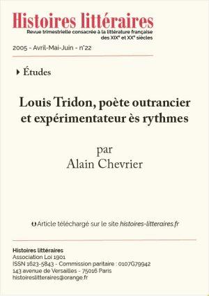page titre article Louis Tridon