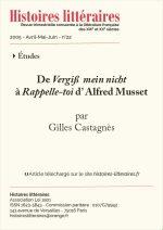 De <em>Vergiß mein nicht</em> à <em>Rappelle-toi</em> d'Alfred Musset
