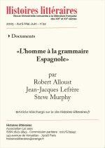 """""""L'Homme à la grammaire espagnole"""" [Arthur Rimbaud]"""