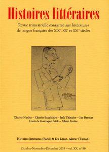 Couverture Histoires littéraires 80