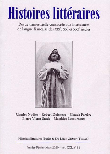 Histoires littéraires n°81 janvier-février-mars 2020