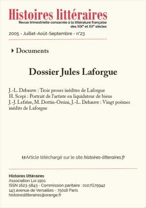 couverture du dossier Jules Laforgue