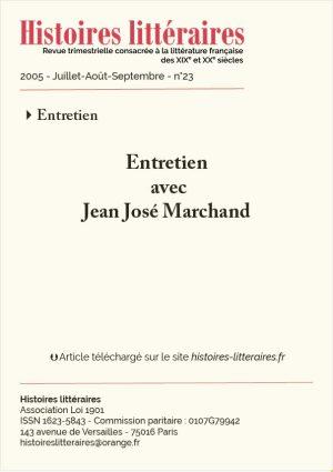 couverture entretien avec Jean José Marchand