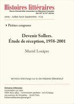 Devenir Sollers, étude de réception, 1958-2001