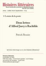 Deux lettres d'Alfred Jarry à Rachilde