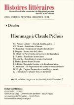 Dossier : Hommage à Claude Pichois