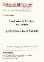 Un dossier de Flaubert mal connu