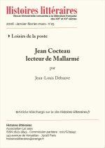 Jean Cocteau lecteur de Mallarmé