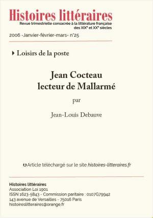 page de titre Jean Cocteau lecteur de Mallarmé