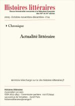 Actualité littéraire – Juin-août 2005