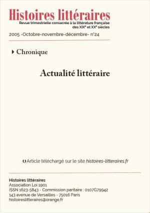 Couverture HL-2005-24-04-actualite litteraire