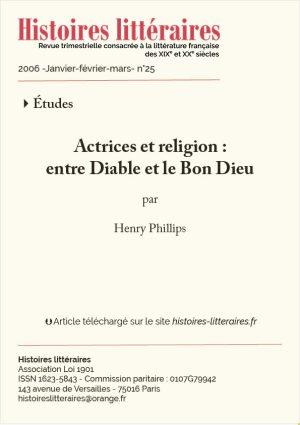 Page titre Actrices et Religion