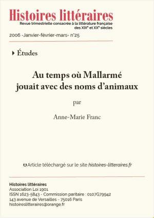 Page titre Mallarmé