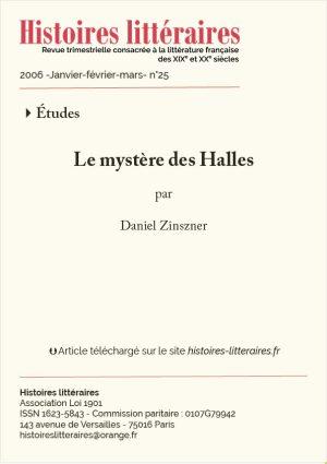 page titre le mystère des Halles